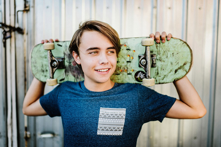 skater, scuffed skateboard