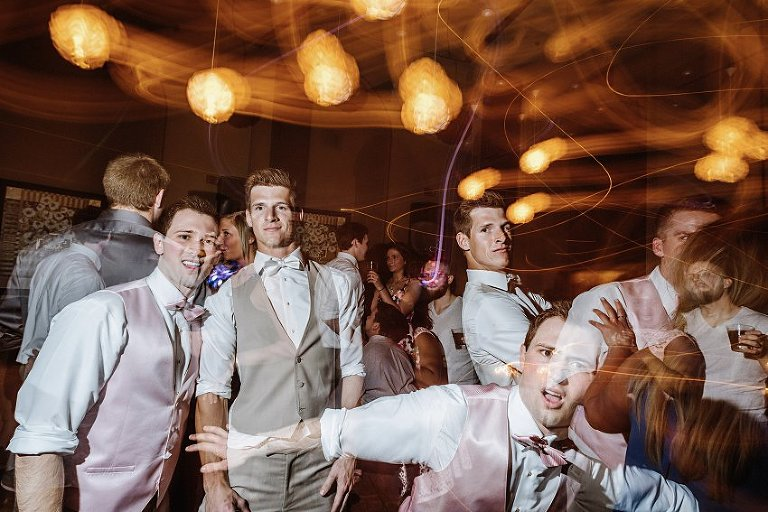 wedding reception photo of guys being funny